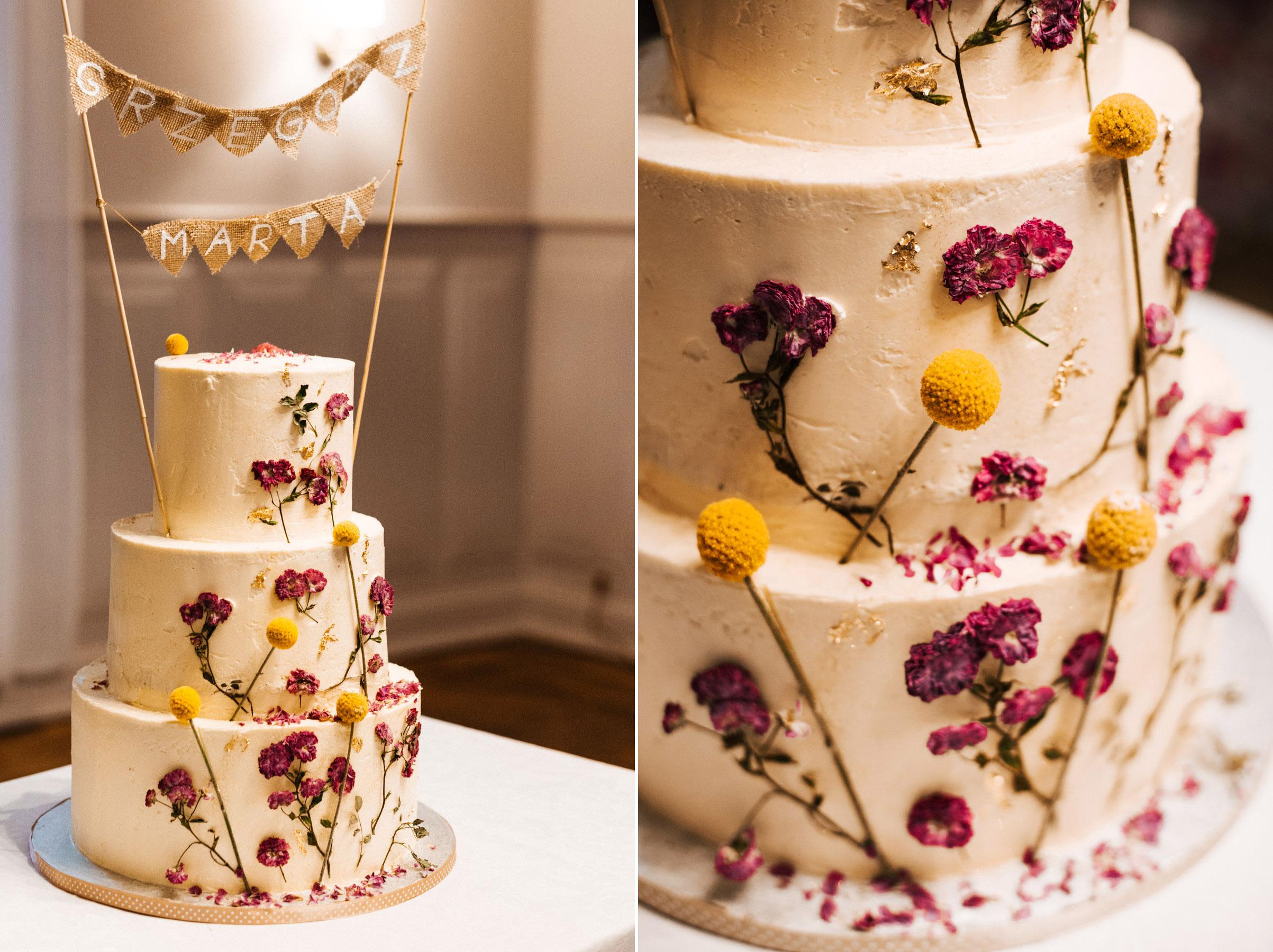 elegancki tort weselny wroclaw